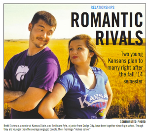 Romantic rivals: Two young Kansans plan to marry